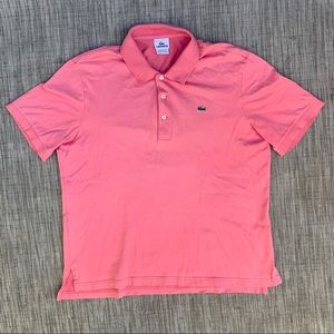 Lacoste Men's 1/4 Button Half sleeve Shirt Size 5